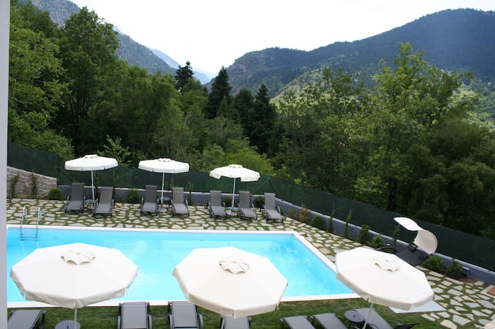 Deluxe Double Room with Forest View in Karpenisi