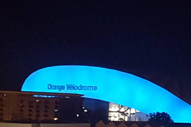 Stade Velodrome de nuit (vue de la terrasse)