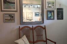Enjoy Linda's artwork throughout the home.
