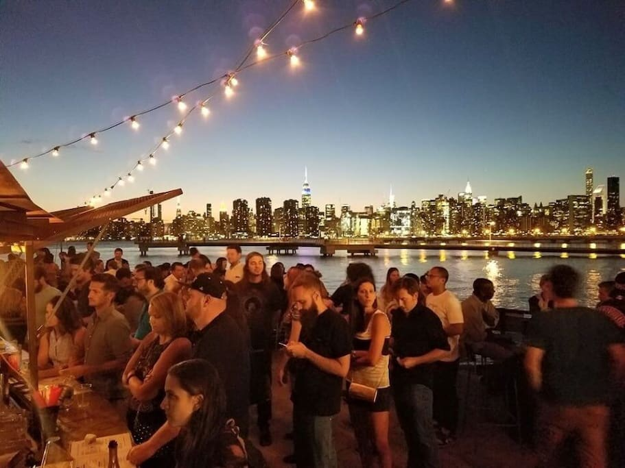 Brooklyn barge. The coolest out door bar at brooklyn