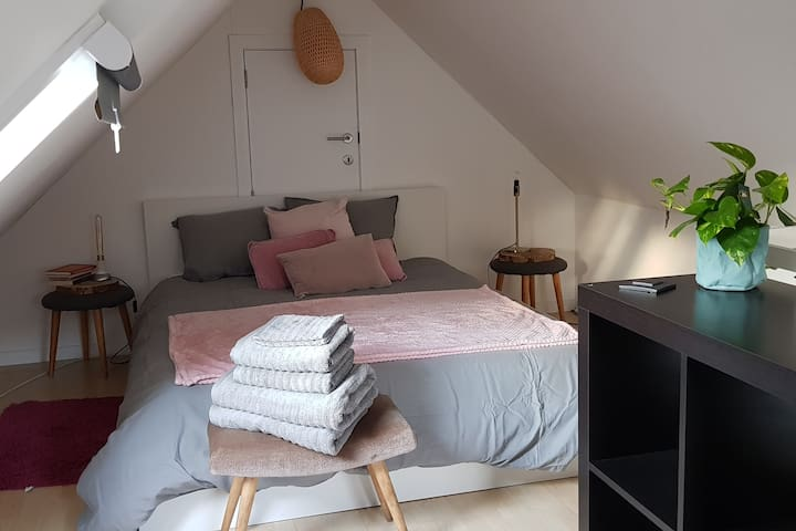 Cosy room with rooftop terrace and breakfast