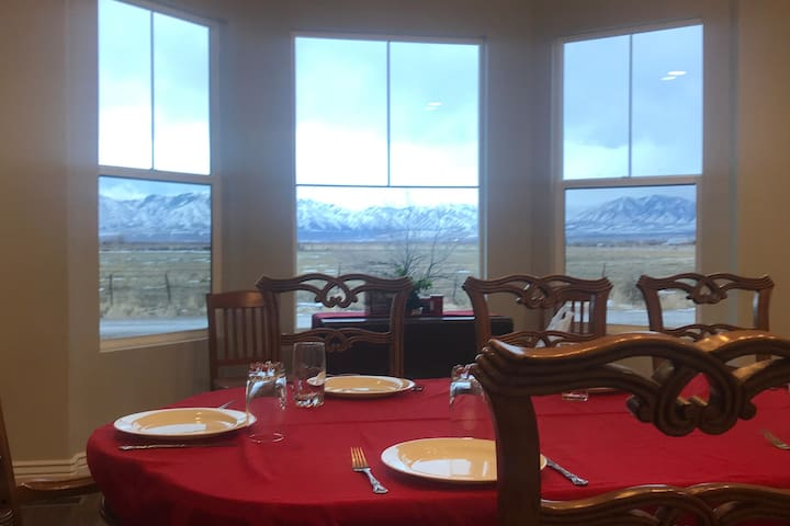 Front view of the East mountains looking from the Dining room.