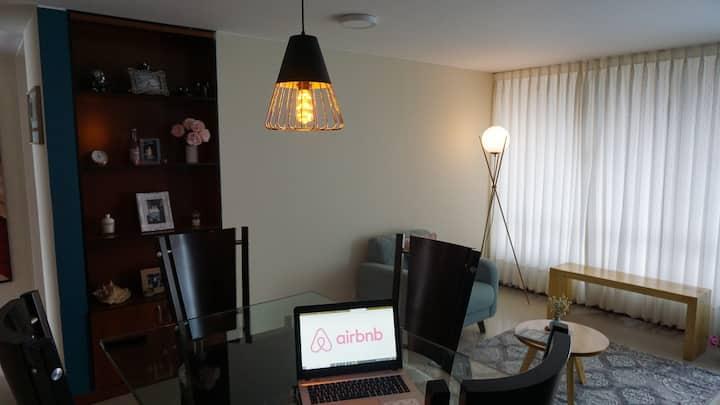 Habitación individual en apartamento tranquilo