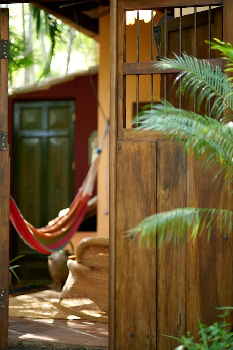 A Nicaraguan door invites you into The Villa Suite.