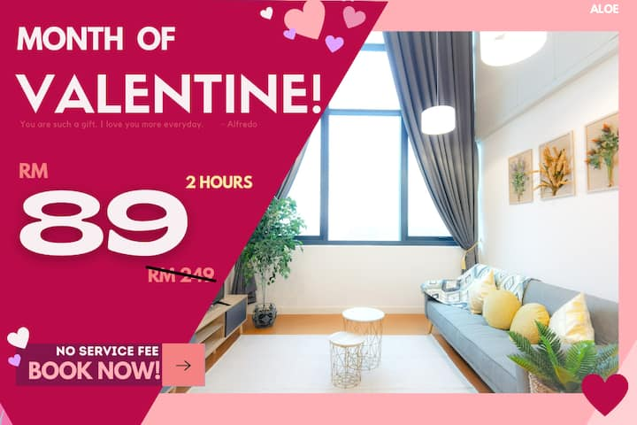 AO1 COUPLE RETREAT HOURLY RATE 2HR ONLY RM89!