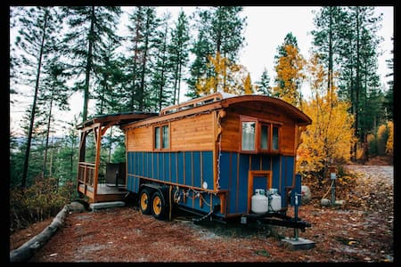 Blue Gypsy Wagon.