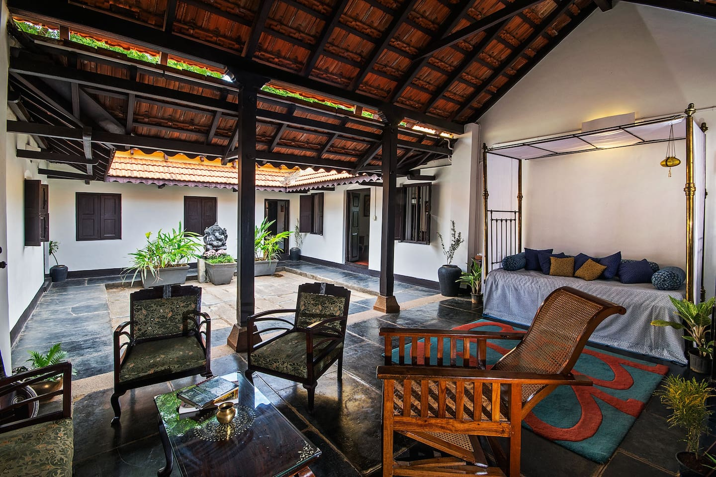 Inner Courtyard filled with the energy of the sun and the stars radiates into the Living Room of 108