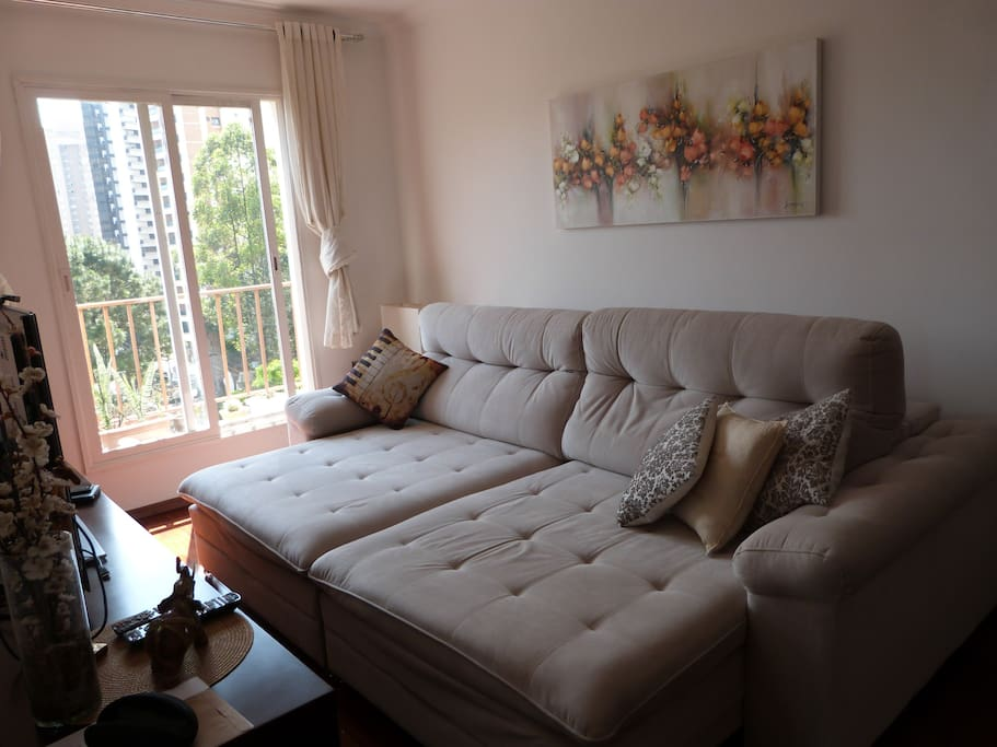 Sala sofa aberto