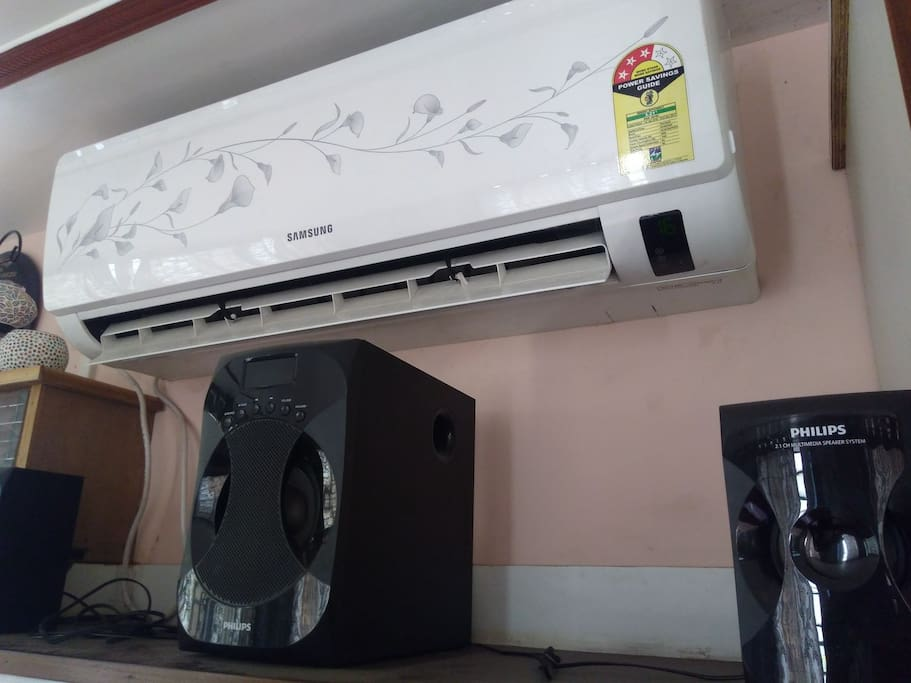 chilled AC with cool speakers
