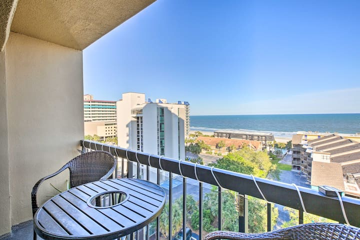 NEW! Condo w/Ocean Views & Pool: <1 Block to Beach