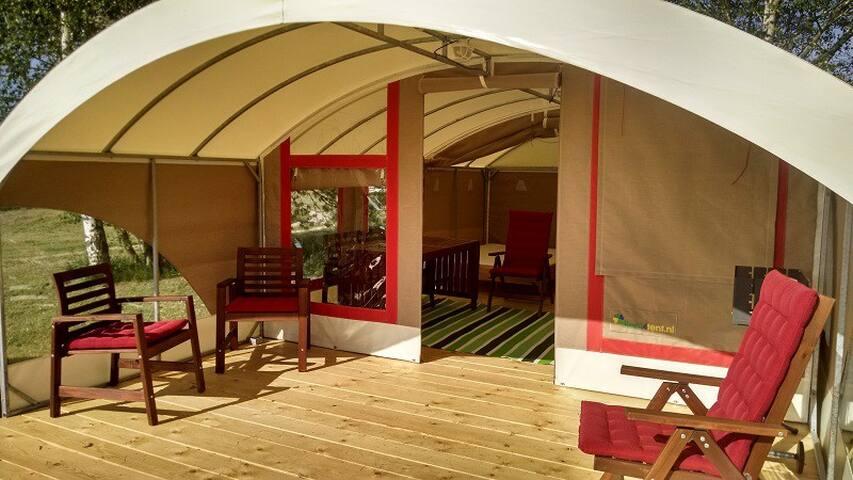 Tunneltent camping Chvalsiny - Chvalšiny