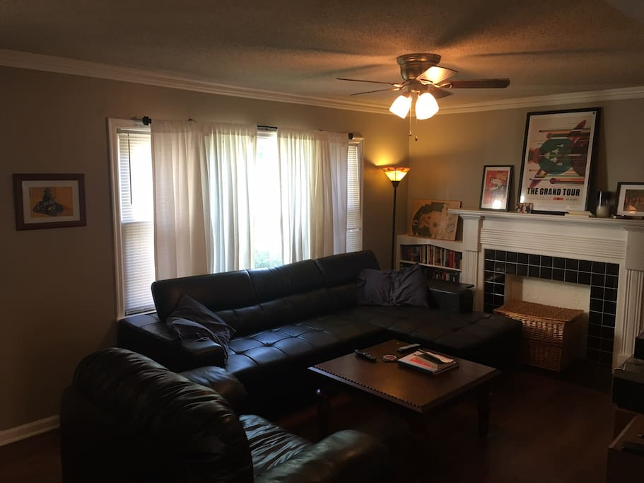 Large couch and chair in main living room