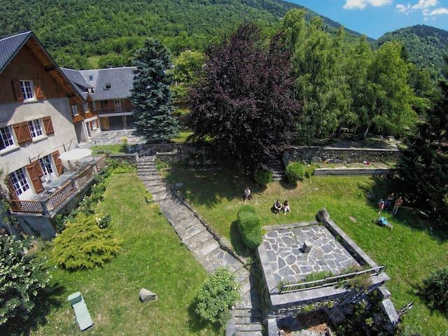 Studio confort, grand jardin et vue - Guchan - Leilighet