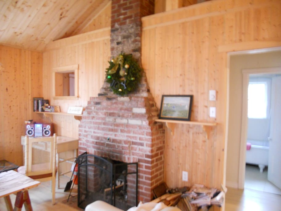 Fireplace was built for heating and keeps it cozy all winter long