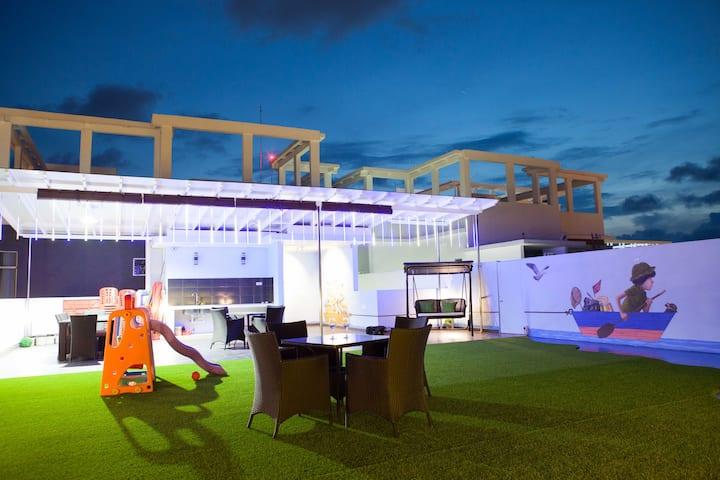 米樂坊頂層现代式高级公寓 - Pearl Rice Garden (modern style)