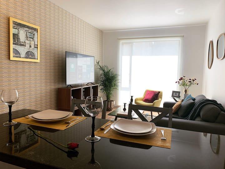 Apto. confortable, espacioso y con estilo <3