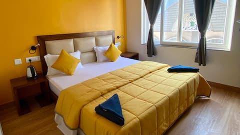 Private room in Joey's Hostel near Laxman Jhula