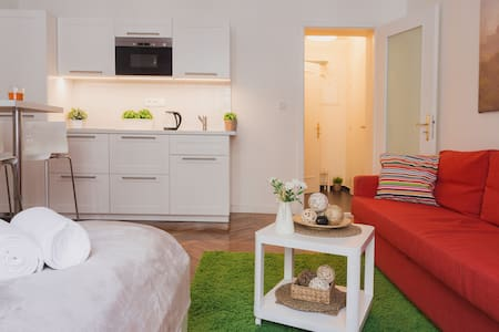 Bright modern studio in the historical building