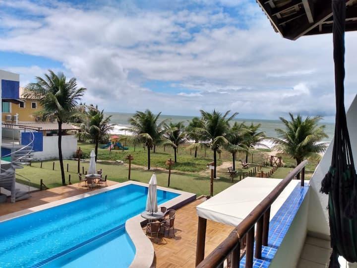 APT em Itacimirim 2 quartos condomínio pé de praia