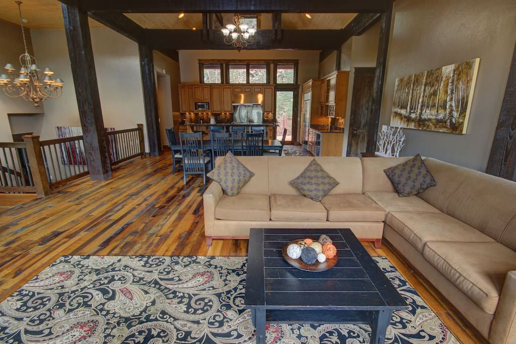 Gorgeous wood beams throughout the house