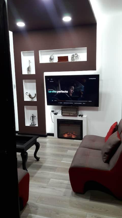 Apartamento Santi-estilo loft con chimenea interior