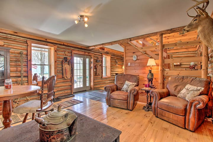 NEW! Spacious Cabin on 7 Private Acres in Athol!