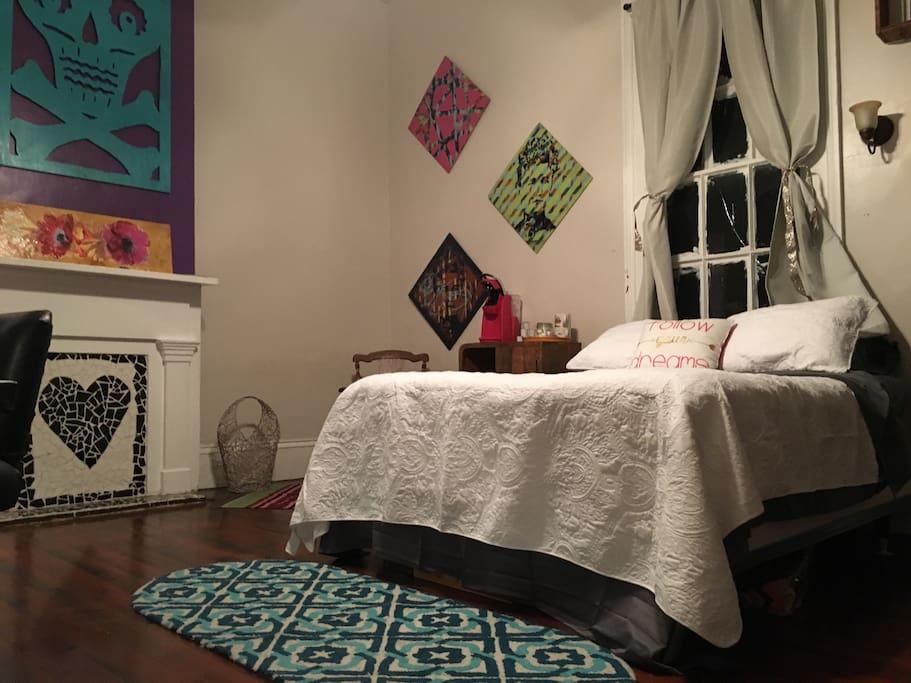 Your bedroom w/ Queen Bed
