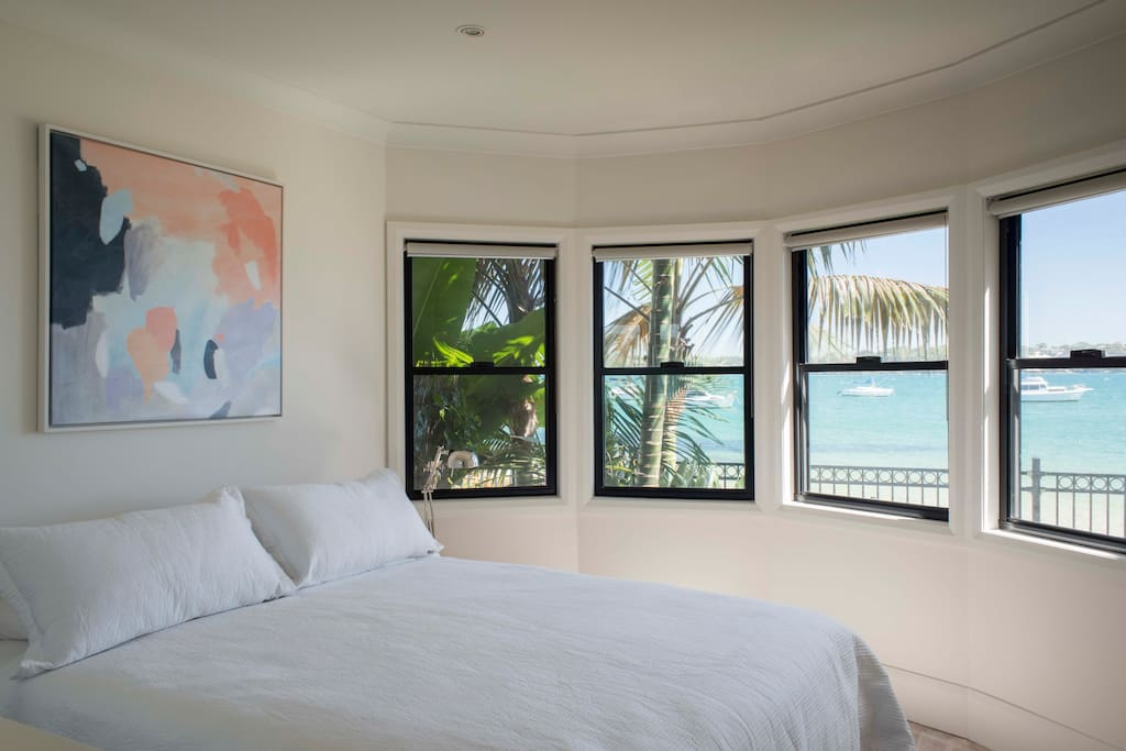 Guest bedroom #2 is a stand alone queen bed with ensuite in 'The Shack' - a beautiful light room set right on the beach.