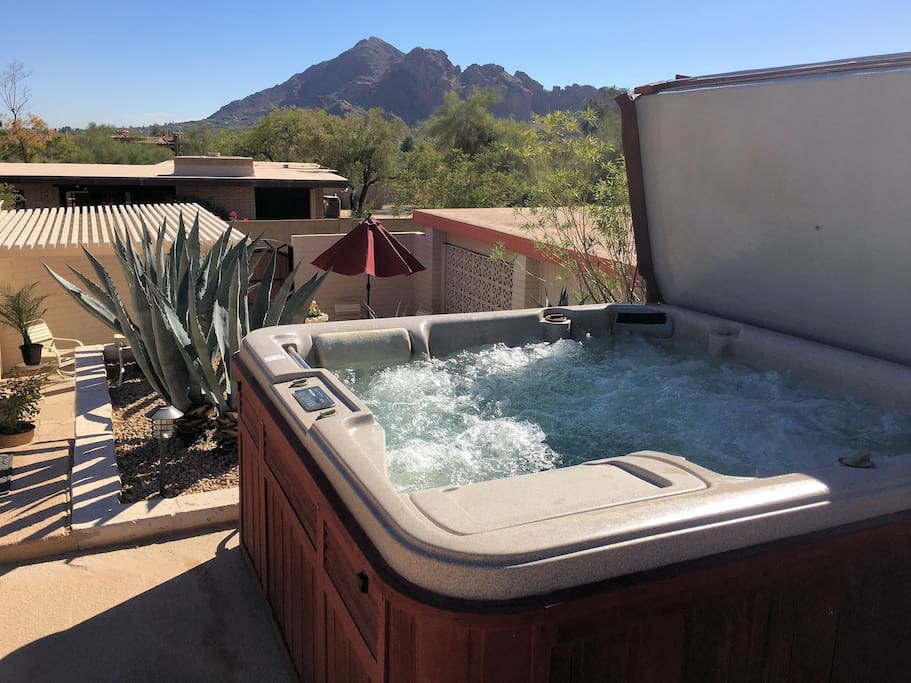 Relaxing Hot Tub, too