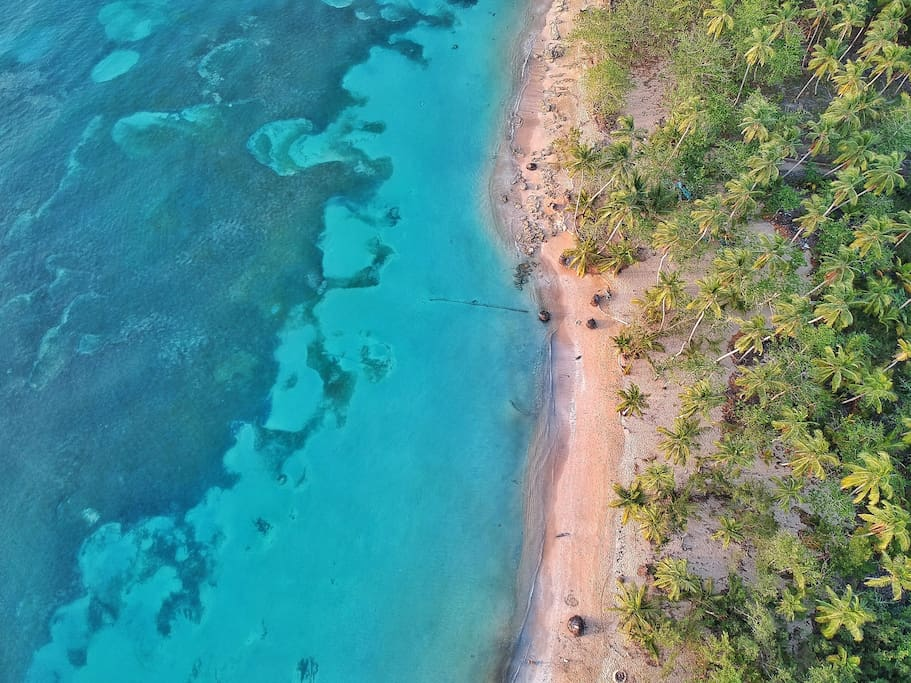 Drone shot of Coson Beach