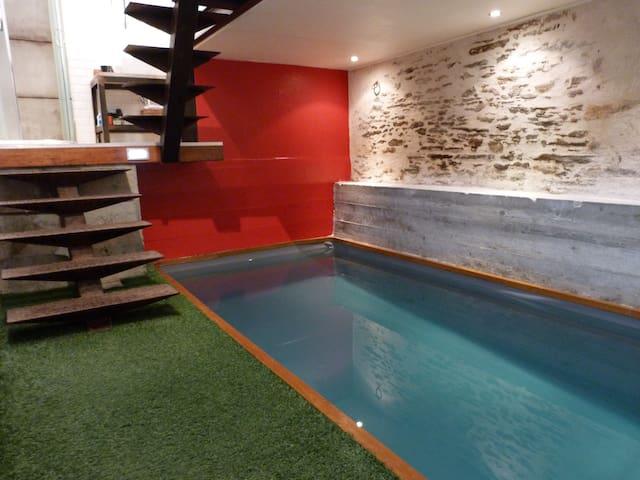 Loft avec piscine privée, Nantes centre-ville