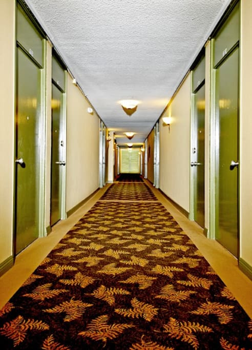 Extra-wide hallways on all 3 floors.