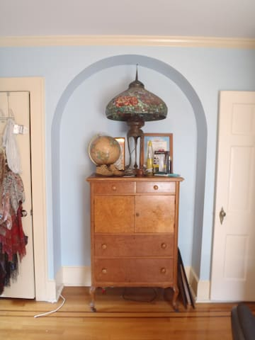Space will be provided in this antique dresser for storage