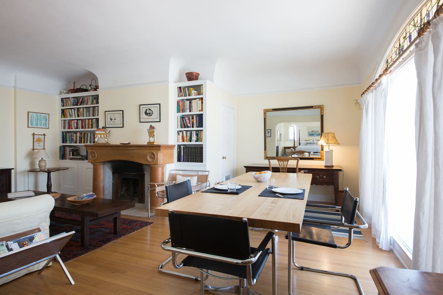 Living Space with Dining table