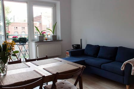 Large room with balcony in the center of Szczecin - 甚切青(Szczecin)