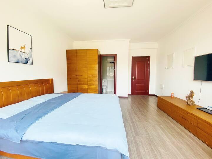 北京怀柔恬逸舍客栈,单间大床房,独立卫生间,依山而居