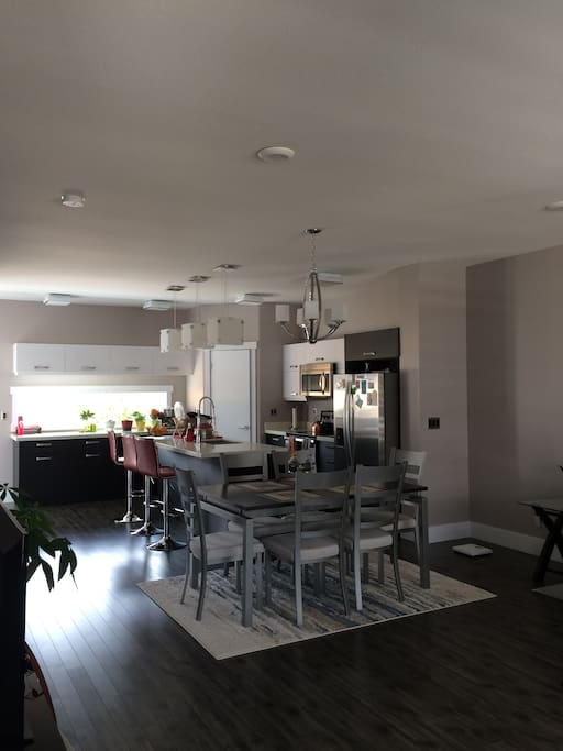 Modern first floor with everything you need(kitchen, dining area, laundry)