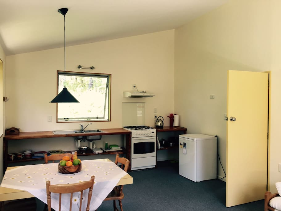 Easy, open plan living with kitchenette and living space