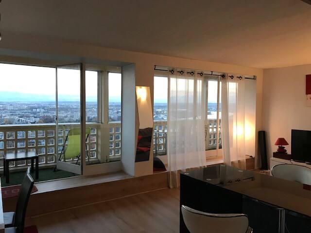 Grand salon, magnifique vue sur tout Lyon