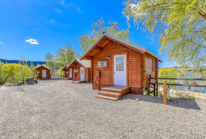 Basic, dog-friendly cabin w/ stunning lake views plus shared dock & restrooms