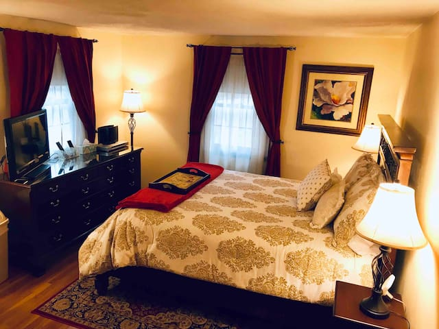 Private Suite with Queen Bed and Attached Bathroom