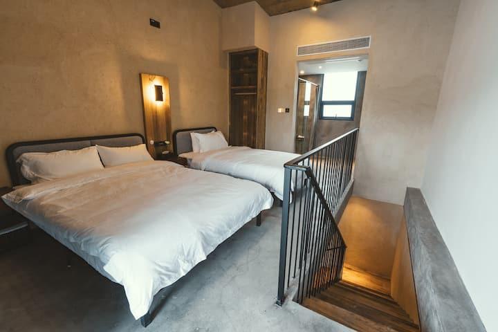 嵊泗列岛五龙乡左岸屿轻奢民宿复式Loft双床房