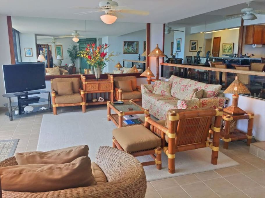 The unit features all the comforts of your own home, place throughout the open floor plan.