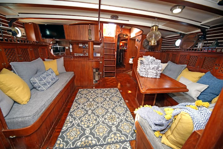 WE'RE OPEN Stunning Sailing Vessel Anathallo