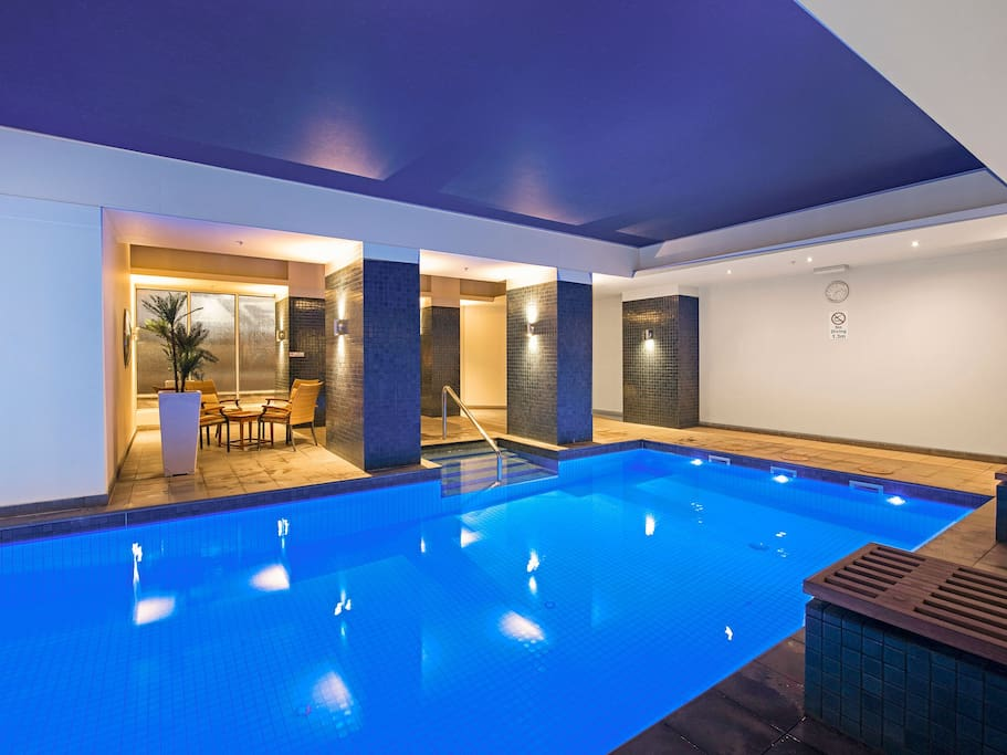 Excape to the indoor heated pool