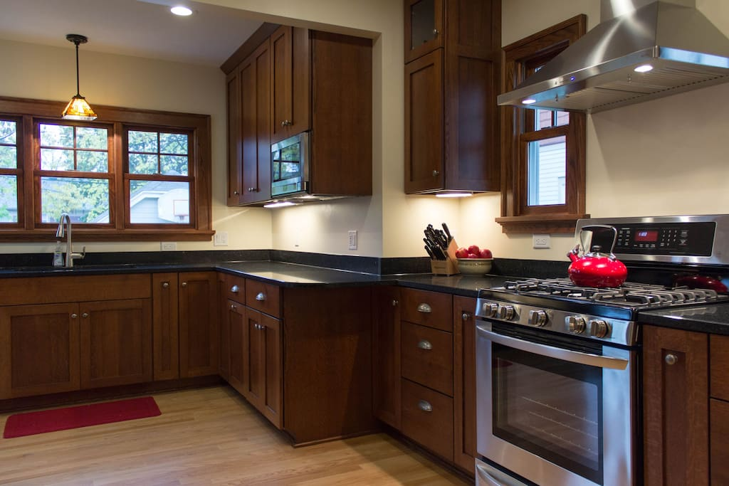 Kitchen brand new in 2015.  Gas range, quartz countertops.