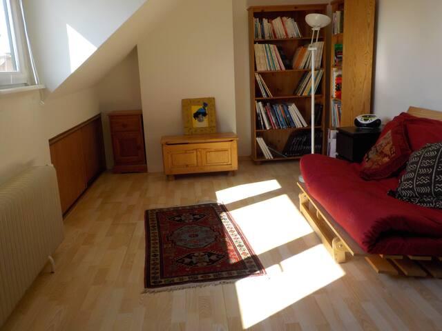 Grande chambre sympa à 2 pas du métro - Kraainem - Guesthouse