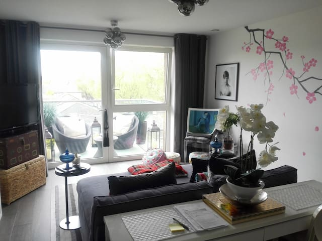 Bright Double Room in modern Surrey Quays - London - Apartemen