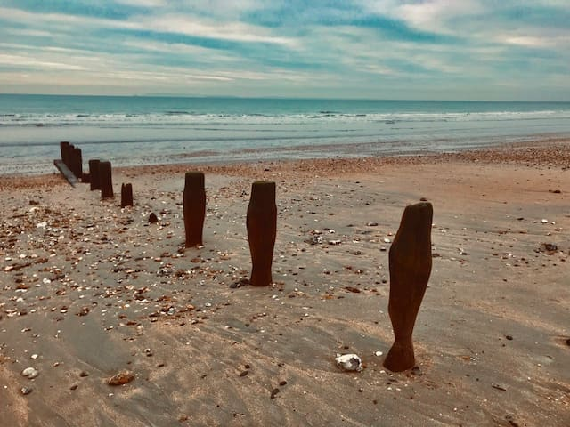Bracklesham Beach on a winter afternoons walk, great for fossil hunting