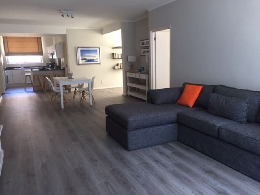 Spacious open plan living area with uncapped wifi